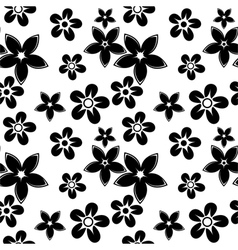 floral silhouettes pattern black vector image vector image