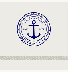 Inspirational themplate of nautical style logo vector