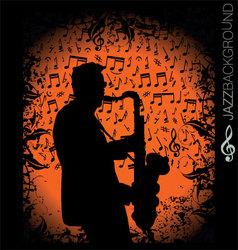 jazz music background vector image