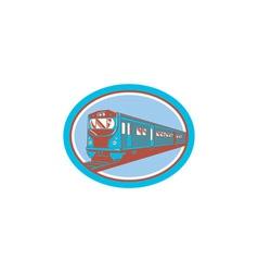 Passenger Train Front View Retro vector image vector image