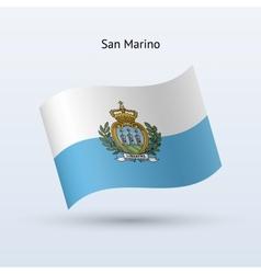 San Marino flag waving form vector image