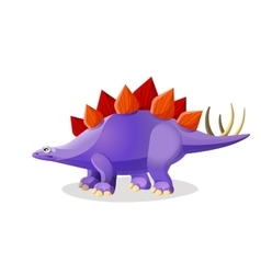 Stegosaurus isolated on white Genus of armored vector image vector image