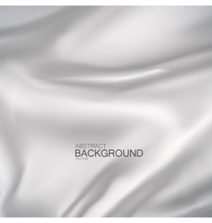 White silk fabric vector