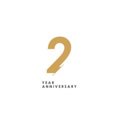 2 year anniversary logo template design vector