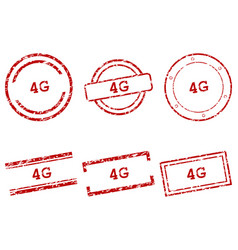 4g stamps vector image