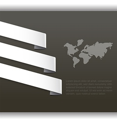 Abstract background with world map and paper tag vector image
