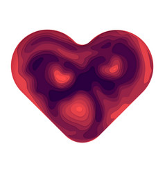 abstract paper cut heart shape vector image