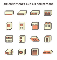 Air conditioner and compressor part hvac vector