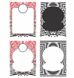 Artistic distorted borders vector