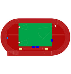 athletics track stadium vector image