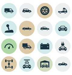 Auto icons set collection of crossover car vector