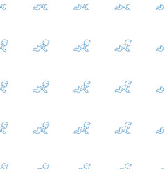 Bacrawl icon pattern seamless white background vector