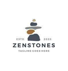 balancing zen stone logo icon vector image