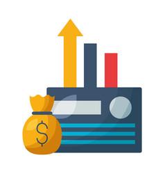 bank credit card money bag chart vector image
