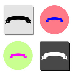banner ribbon flat icon vector image