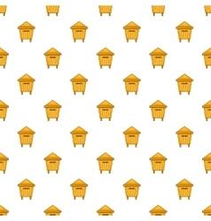 Beehive pattern cartoon style vector image