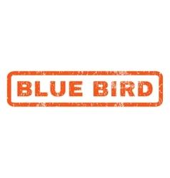 Blue Bird Rubber Stamp vector