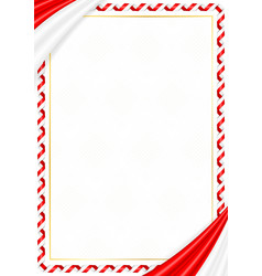 Border made with indonesia national colors vector
