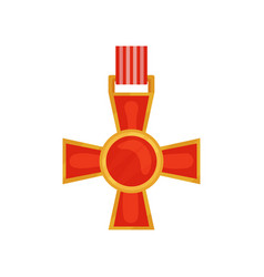 bright red cross of valour honorary order of vector image