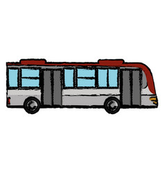 bus transport vehicle business vector image