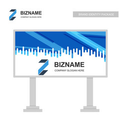 Business bill board design with logo and creative vector