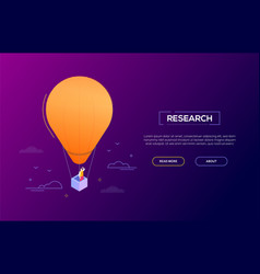 business research - modern isometric web vector image