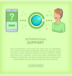 call center concept cellphone girl cartoon style vector image vector image