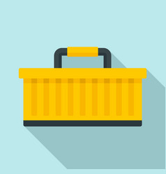 car tool box icon flat style vector image