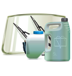 car windshield cleaning system parts with vector image
