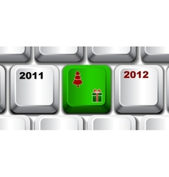Christmas keyboard key vector image
