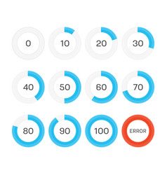 Circle progress bar vector