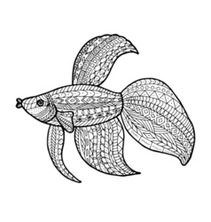 ColoringFish vector image