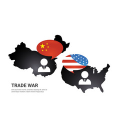 communication between china and us america us vector image