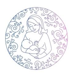 Concept of motherhood vector