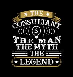 Consultant man myth legend vector