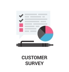 Customer survey icon vector