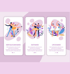 dance classes online web page template ballet and vector image