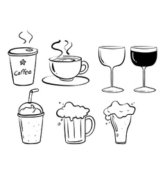 different kinds drinks vector image