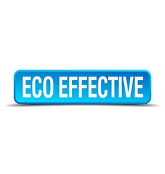 eco effective blue 3d realistic square isolated vector image