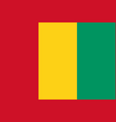 Flag of guinea official colors and proportions vector