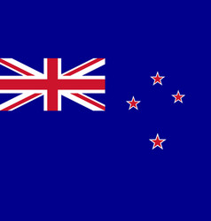 flag of new zealand in national colors vector image