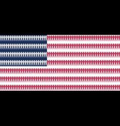 Flag USA as partnership politics and people vector image