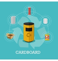 Garbage recycle concept in vector