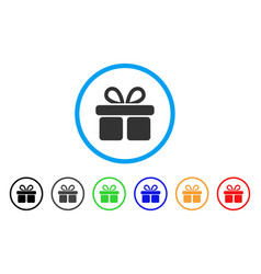 Gift rounded icon vector