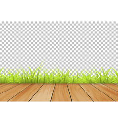 grass with wood background isolated summer vector image