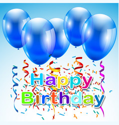 Greeting card with a happy birthday with balloons vector