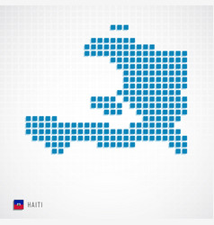 haiti map and flag icon vector image