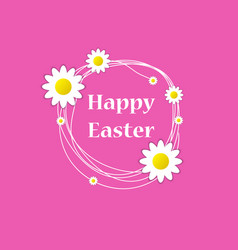 happy easter spring holiday vector image