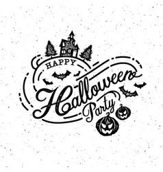 happy halloween party calligraphy logo ghost vector image