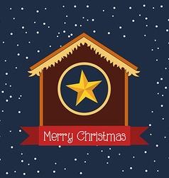 Happy merry christmas design vector